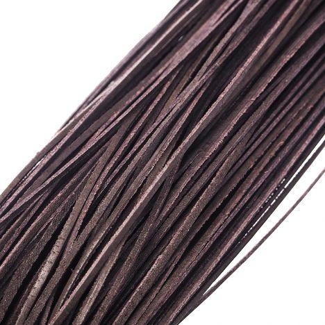 RZEMYK SKÓRZANY - CIEMNOBRĄZOWY - ok. 85 - 90 cm długości