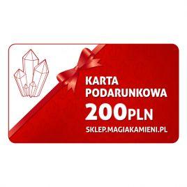 KARTA PODARUNKOWA O WARTOŚCI 200 ZŁOTYCH