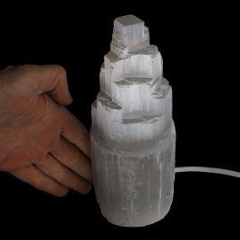 SELENIT - KAMIEŃ KSIĘŻYCOWY - LAMPA 188 mm