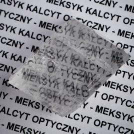 KALCYT OPTYCZNY - SZPAT ISLANDZKI - KRYSZTAŁ 40 mm - MEKSYK