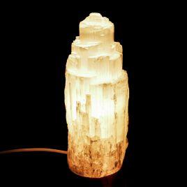 SELENIT - KAMIEŃ KSIĘŻYCOWY - LAMPA 250 mm