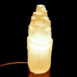 SELENIT - KAMIEŃ KSIĘŻYCOWY - LAMPA 245 mm